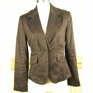 Apt. 9 ~ Brown Linen Blend Lined Blazer